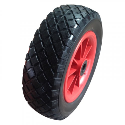 10 Inch 3.00-4 PU Foam Flatfree Trolley Wheel
