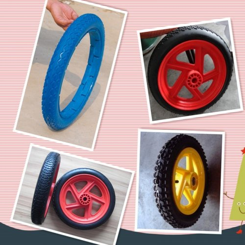 "13""X2.5"", 18""X2.5"", 26""X2.5"" Flat Free Polyurethane Wheel/PU Foam Trolley Wheel"