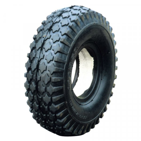 "10""X4.10/3.50-4 Flat Free PU Foam Filled Rubber Wheel"
