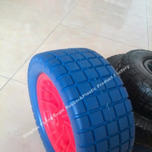 "13""X5.00-8 Polyurethane Foam Flatfree Wheel for Carts"