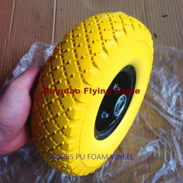 260X85mm Flat Free PU Foam Wheel