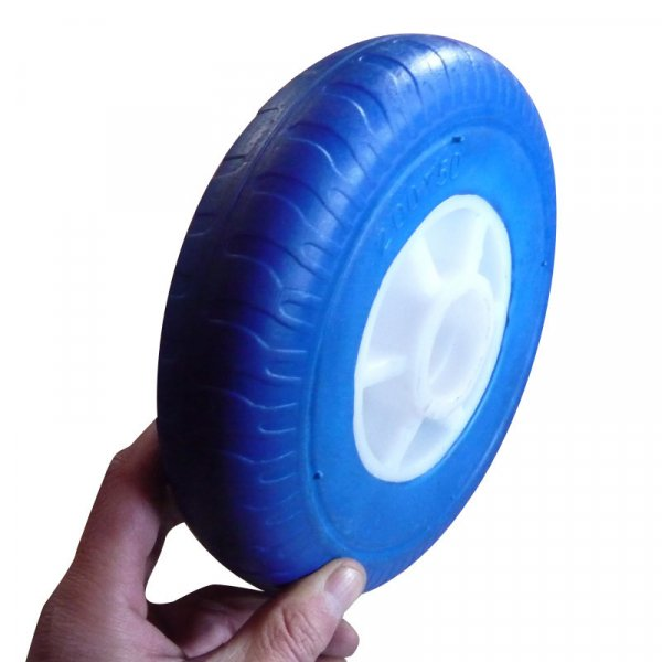 160X50 200X50 220X60mm Flat Free PU Foam Wheel