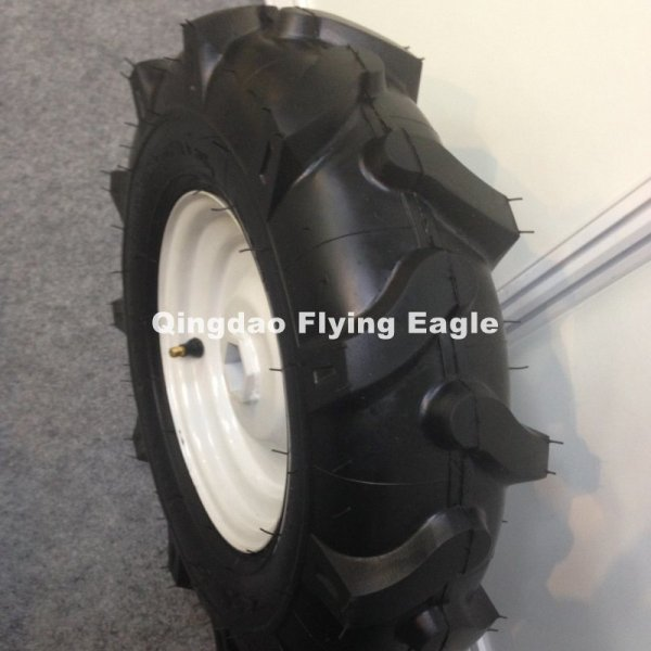4.00-8 Herringbone Pattern Pneumatic Inflatable Rubber Wheel