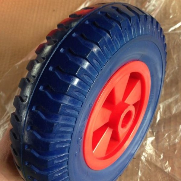 "8 Inch 2.50-4 8""X2.50""-4 PU Carefree Wheel"