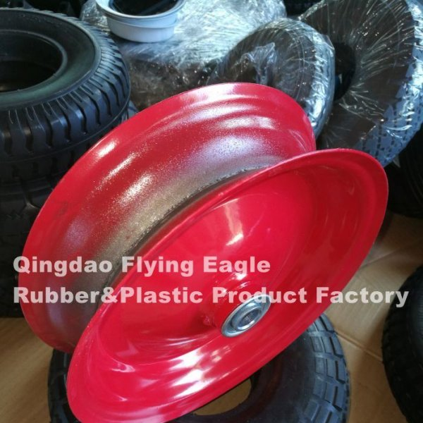 400-8 Metal Rim for Rubber Trolley Wheel