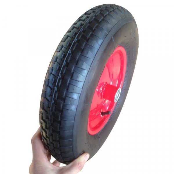 16inch 4.00-8 Pneumatic Rubber Trolley Wheel