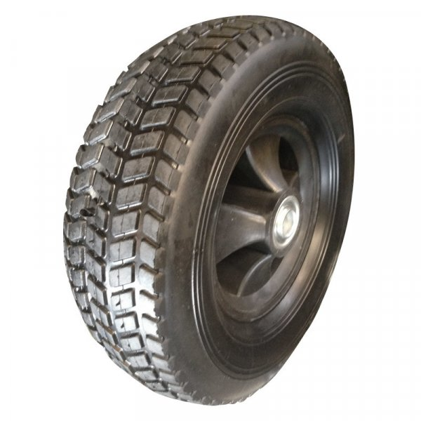 "10 Inch 10""X3.3"" Semi-Pneumatic Solid Hollow Rubber Wheel"
