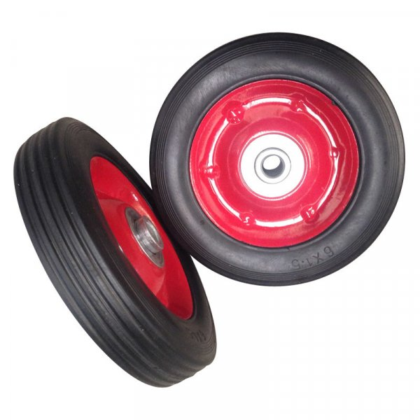 "6 Inch 6""X1.5"" Solid Powder Rubber Wheel"