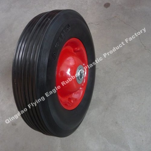 """10inch 10""""X1.75"""" Solid Rubber Wheel with Plastic/Metal Rim"""
