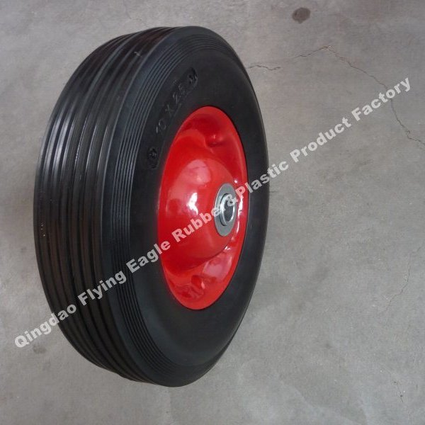 "10inch 10""X1.75"" Solid Rubber Wheel with Plastic/Metal Rim"