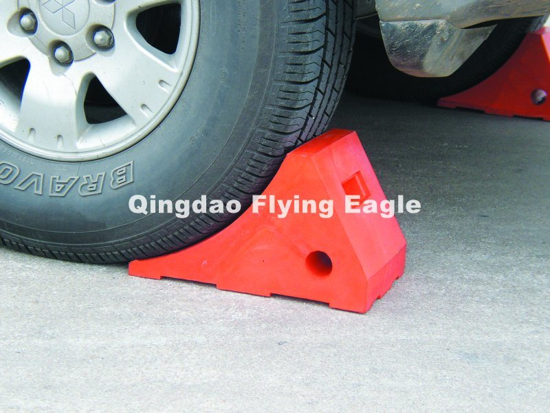 PU Wheel Chock Blocks/Safety Block for Parkingtraffic