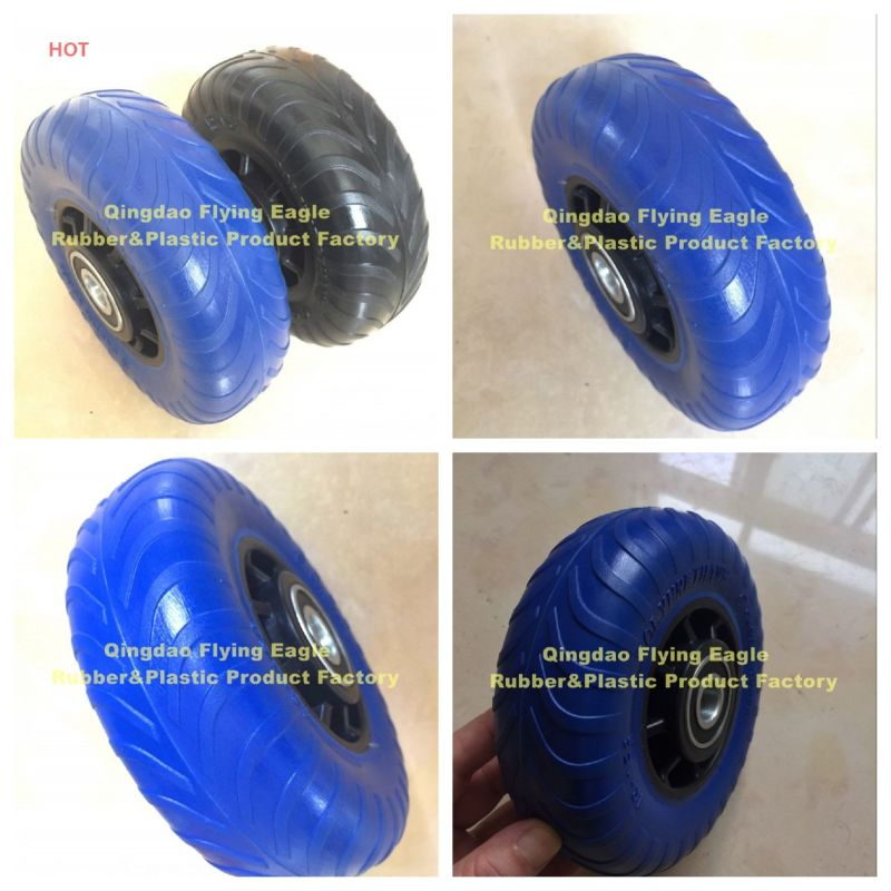 48X156 PU Polyurethane (Rubber) Handcart and Trolley Wheel